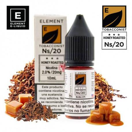 E-líquido Element Salts Tobacconist Honey Roasted 20mg/ml 10ml