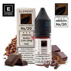 E-líquido Element Salts Tobacconist Chocolate 20mg/ml 10ml