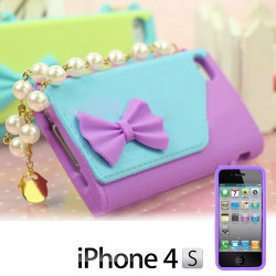 Funda compatible con iphone Bolso con Perlas