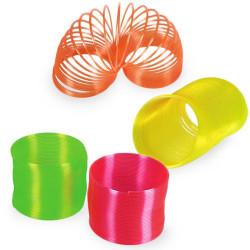 Espiral de Plástico Neón Rosa