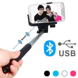 Monopié Bluetooth para Selfies Azul
