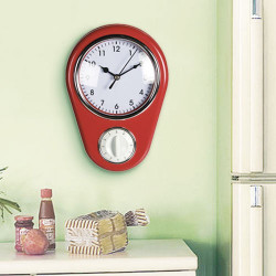 Reloj de Pared Vintage Cuentaminutos