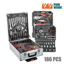 Maletín de Herramientas PWR Work (186 herramientas)