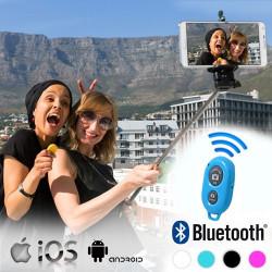 Monopié para Selfies con Mando Bluetooth Blanco