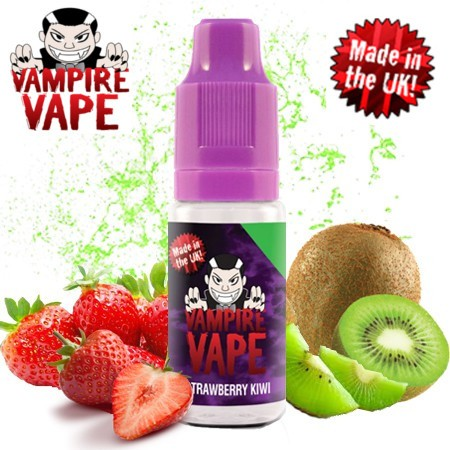 E-líquido Vampire Vape Strawberry & Kiwi Sin Nicotina 10ml