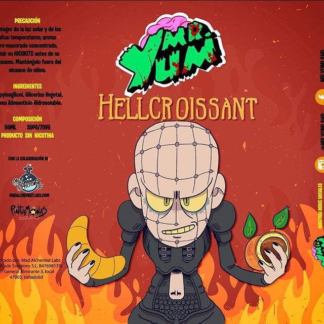 E-líquido Mr. Yum HELL CROISSANT TPD 50ml 0mg